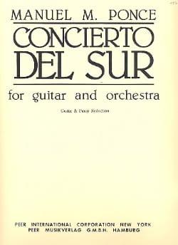 Concierto del Sur Manuel Maria Ponce Partition Guitare - laflutedepan