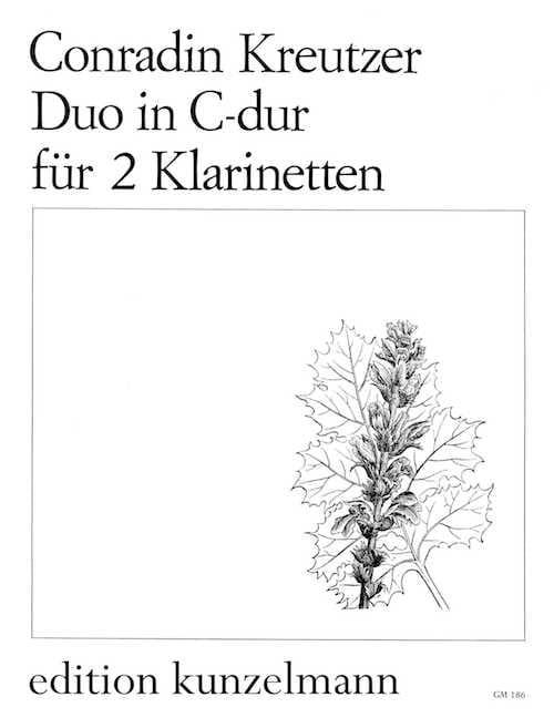Duo C-dur - 2 Klarinetten - Conradin Kreutzer - laflutedepan.com