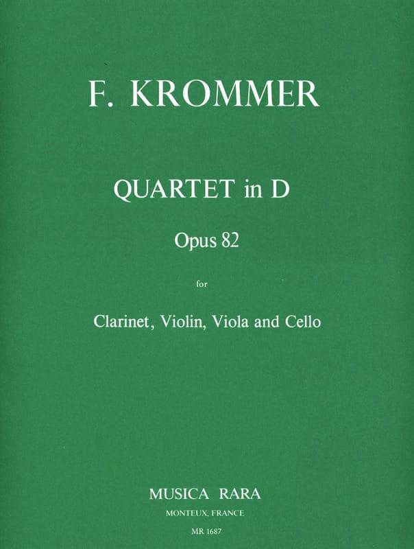 Quartet in D op. 82 - Clarinette-Violon-Alto-Violoncelle - laflutedepan.com