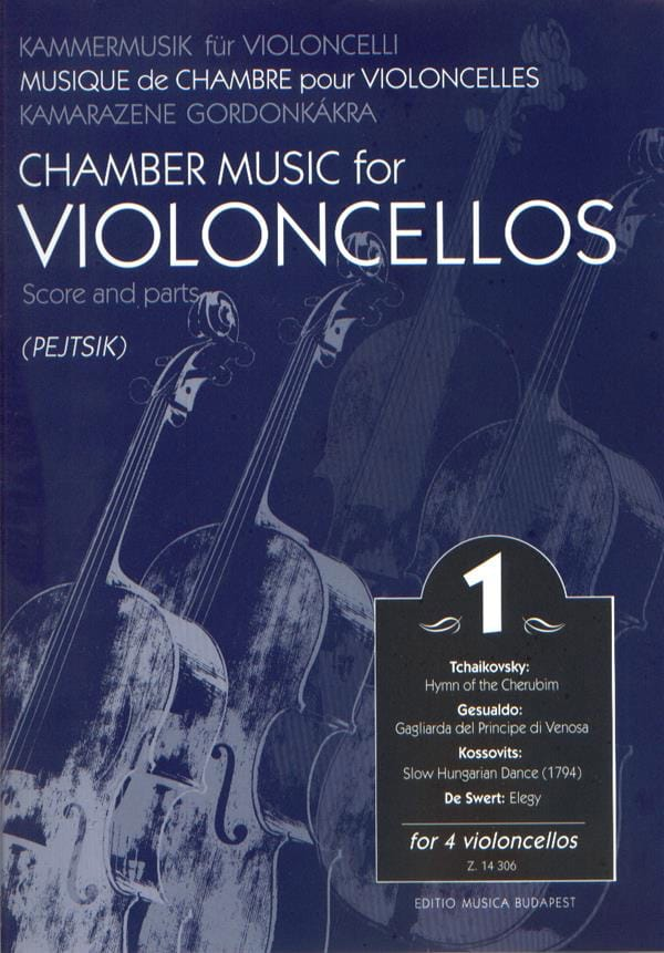 Chamber music for violoncellos - Volume 1 - Score + Parts - laflutedepan.com