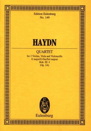 Streich-Quartett G-Dur op. 1 n° 4 - HAYDN - laflutedepan.com