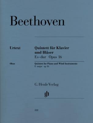 Quintette en Mi bémol majeur op. 16 pour piano, hautbois, clarinette, cor, basso laflutedepan