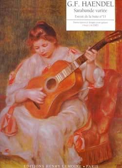 Sarabande Variée HAENDEL Partition Guitare - laflutedepan