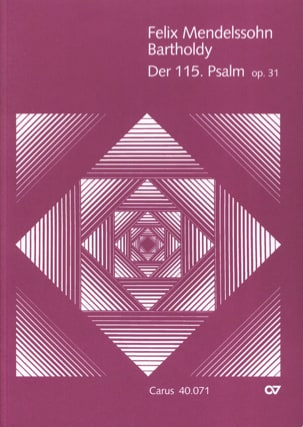 Psalm 115 op. 31 MENDELSSOHN Partition Grand format - laflutedepan