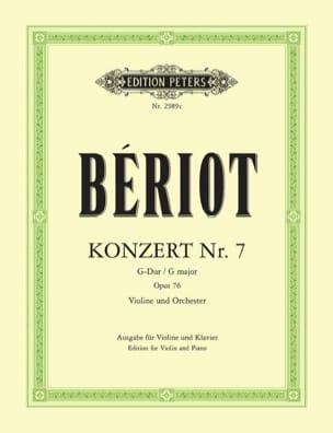 Konzert n° 7 G-Dur op. 76 BÉRIOT Partition Violon - laflutedepan