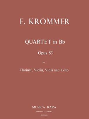 Quartet in Bb op. 83 -Clarinet violin viola cello - Parts laflutedepan