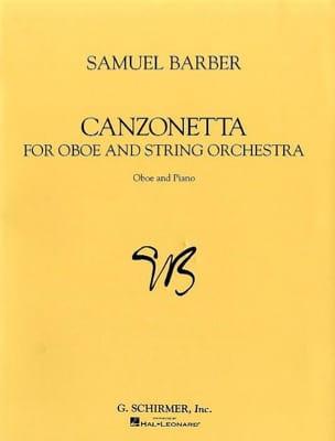 Canzonetta - Oboe piano BARBER Partition Hautbois - laflutedepan
