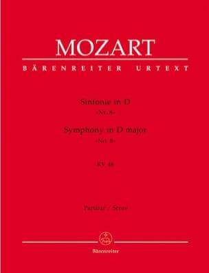Symphonie D-Dur KV 48 Nr. 8 - Partitur - MOZART - laflutedepan.com