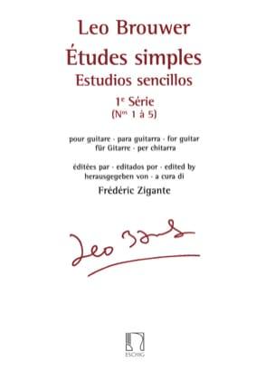 Etudes Simples - 1ère Série BROUWER Partition Guitare - laflutedepan