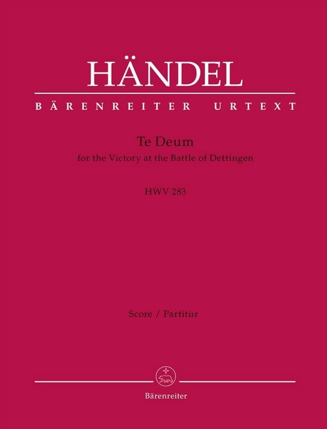 Te Deum, HWV 283 - Conducteur - HAENDEL - Partition - laflutedepan.com