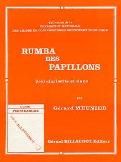 Rumba des papillons - Gérard Meunier - Partition - laflutedepan.com
