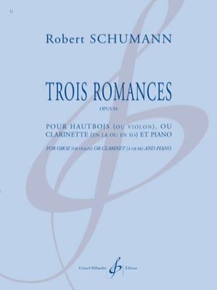 3 Romances - Hautbois et piano SCHUMANN Partition laflutedepan