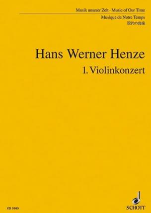 Violinkonzert Nr. 1 - Partitur - Hans Werner Henze - laflutedepan.com