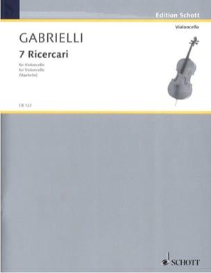 7 Ricercari 1689 Domenico Gabrielli Partition laflutedepan