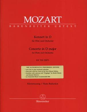 MOZART - Flute Concerto No. 2 in D major KV 314 - Partition - di-arezzo.co.uk