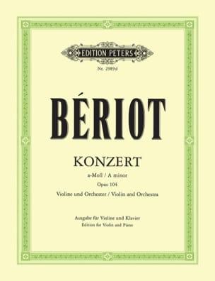Concerto en la mineur, op. 104 n° 9 BÉRIOT Partition laflutedepan