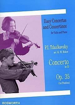 Concerto Violon ré majeur op. 35 1ère pos. TCHAIKOVSKY laflutedepan