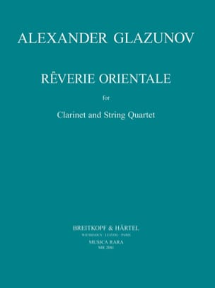 Rêverie Orientale - Clarinet String quartet - Parts laflutedepan