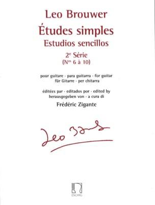 Etudes Simples - 2ème Série BROUWER Partition Guitare - laflutedepan