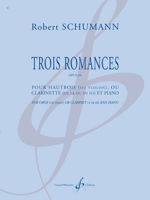 3 Romances - Hautbois et piano - SCHUMANN - laflutedepan.com