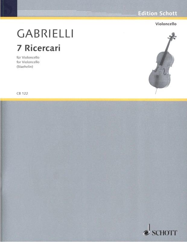 7 Ricercari 1689 - Domenico Gabrielli - Partition - laflutedepan.com