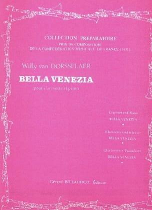 Bella Venezia Willy van Dorsselaer Partition Clarinette - laflutedepan