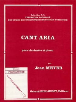 Cant-Aria Jean Meyer Partition Clarinette - laflutedepan