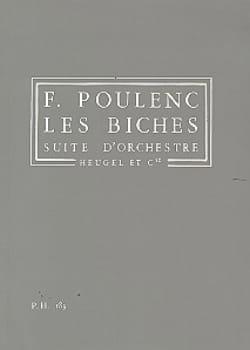 Les Biches - Conducteur POULENC Partition Petit format - laflutedepan