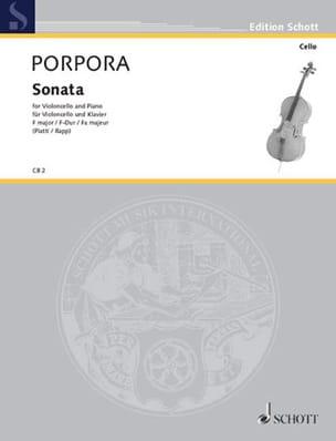 Sonate F-Dur Nicola Antonio Porpora Partition laflutedepan