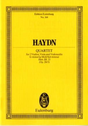 Streich-Quartett g-moll op. 20 n° 3 - HAYDN - laflutedepan.com