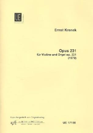 Opus 231 für Violine und Orgel - Ernst Krenek - laflutedepan.com