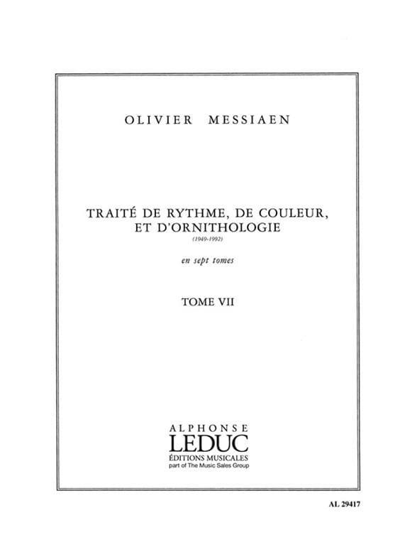 Tome 7 - Traité de Rythme, de Couleur et D'ornithologie - laflutedepan.com