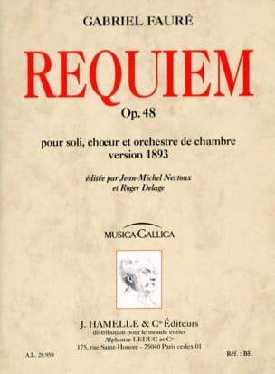 Requiem op. 48 - Version 1893 - Conducteur FAURÉ laflutedepan