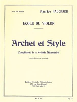 Maurice Hauchard - Arco y estilo - Partition - di-arezzo.es
