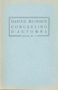 Darius Milhaud - Autumn Concertino - Conductor - Partition - di-arezzo.com