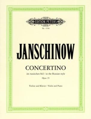 Concertino in russian style op. 35 Alexei Janschinow laflutedepan