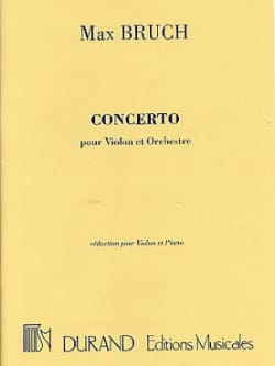 Max Bruch - Violin Concerto No. 1 Op. 26 Minor Floor - Partition - di-arezzo.com