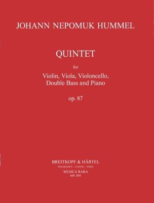 Quintet op. 87 -Partitur + Stimmen - HUMMEL - laflutedepan.com