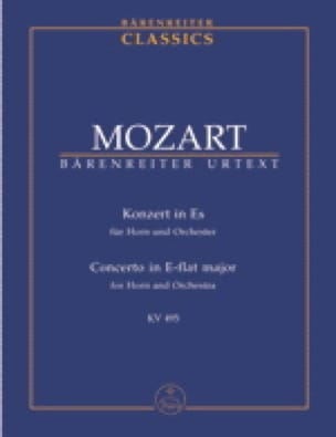 Hornkonzert Nr. 4 Es-Dur Kv 495 - Partitur - MOZART - laflutedepan.com