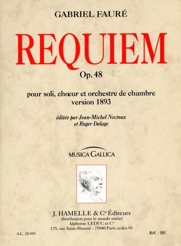 Requiem op. 48 - Version 1893 - Conducteur - FAURÉ - laflutedepan.com