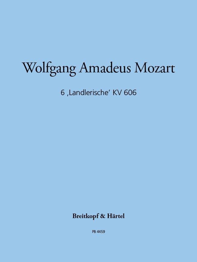 Sechs Landlerische KV 606 - Wolfgang A. Mozart - laflutedepan.com