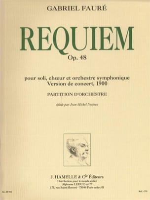 Requiem op. 48 - Version 1900 FAURÉ Partition laflutedepan