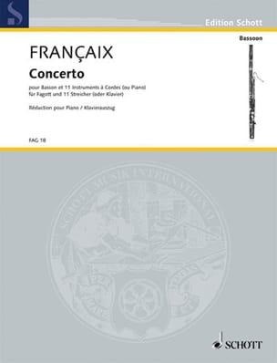 Concerto pour Basson FRANÇAIX Partition Basson - laflutedepan
