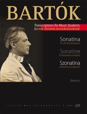Sonatine - Klarinette Klavier - BARTOK - Partition - laflutedepan.com
