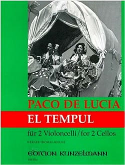 El Tempul Paco De Lucia Partition Violoncelle - laflutedepan