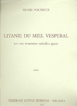 Litanie du miel vespéral Henri Pousseur Partition laflutedepan
