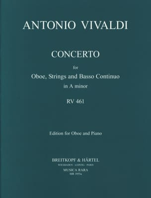 Concerto in A minor RV 461 F. 7 n° 5 -Oboe piano VIVALDI laflutedepan