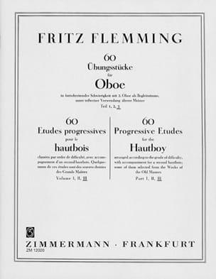 60 Ubungsstücke Für Oboe - Volume 3 Fritz Flemming laflutedepan