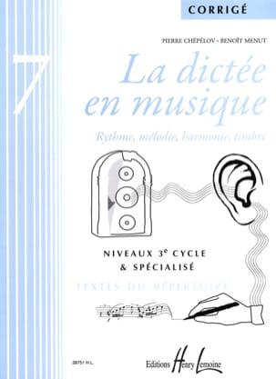 La Dictée en Musique - Corrigé - Volume 7 laflutedepan