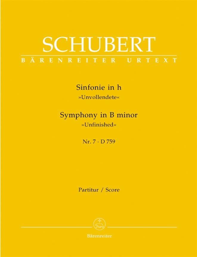 Symphonie Nr. 7 h-moll D. 759 - Partitur - SCHUBERT - laflutedepan.com